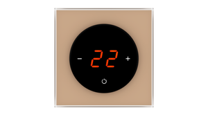 Glass Thermostat T-Type - BROWN LIGHT