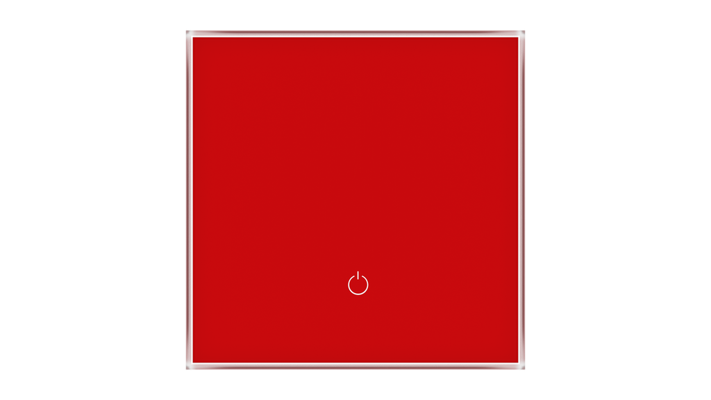 Glass Switch 1-gang RED LUMINOUS