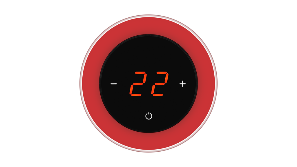 Glass Thermostat R-Type - RED LUMINOUS