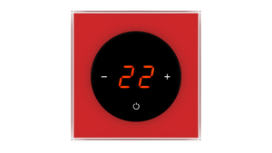 Glass Thermostat T-Type - RED LUMINOUS