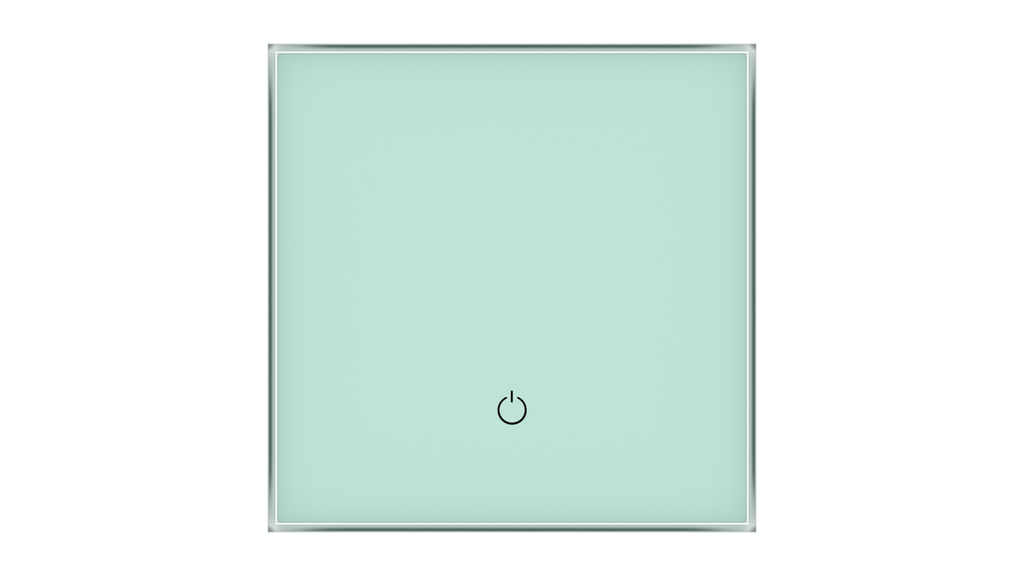 Glass Switch 1-gang GREEN PASTEL