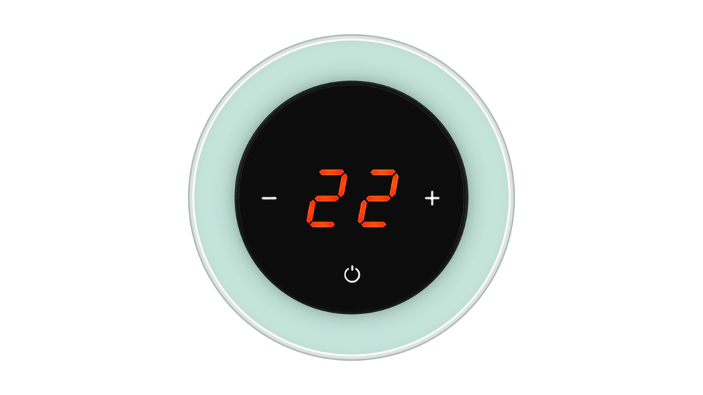 Glass Thermostat R-Type - GREEN PASTEL