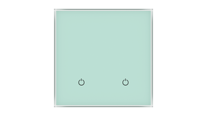 Glass Switch 2-gang GREEN PASTEL
