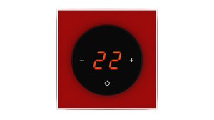 Glass Thermostat T-Type - RED DARK