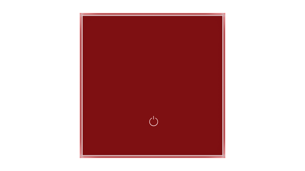 Glass Switch 1-gang RED DARK