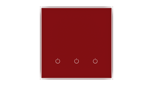 Glass Switch 3-gang RED DARK