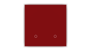 Glass Switch 2-gang RED DARK