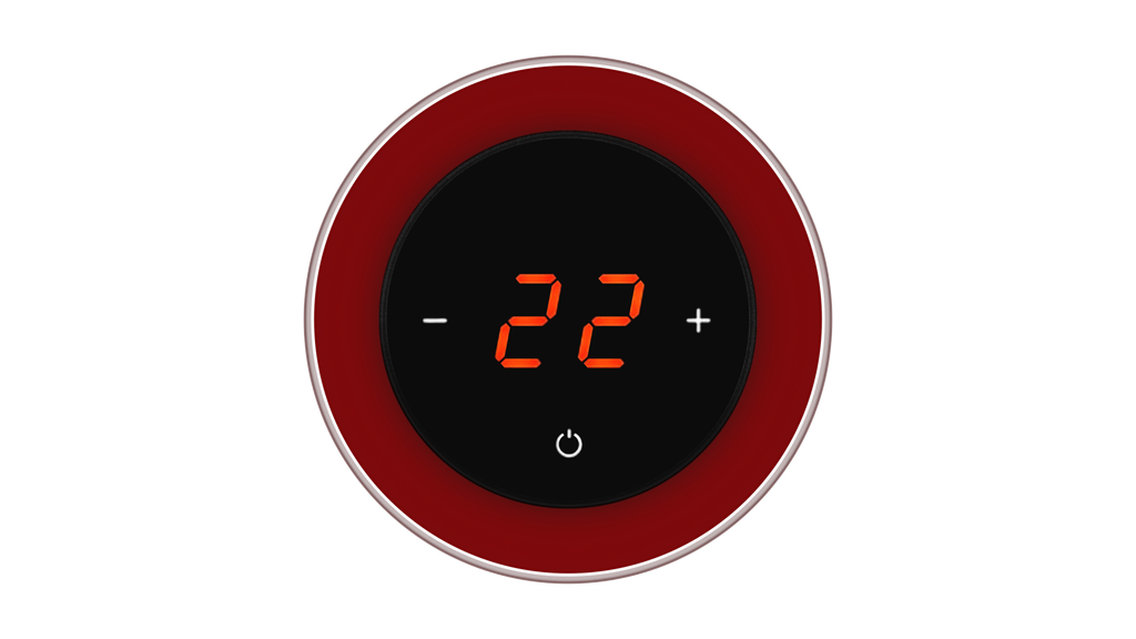 Glass Thermostat R-Type - RED DARK