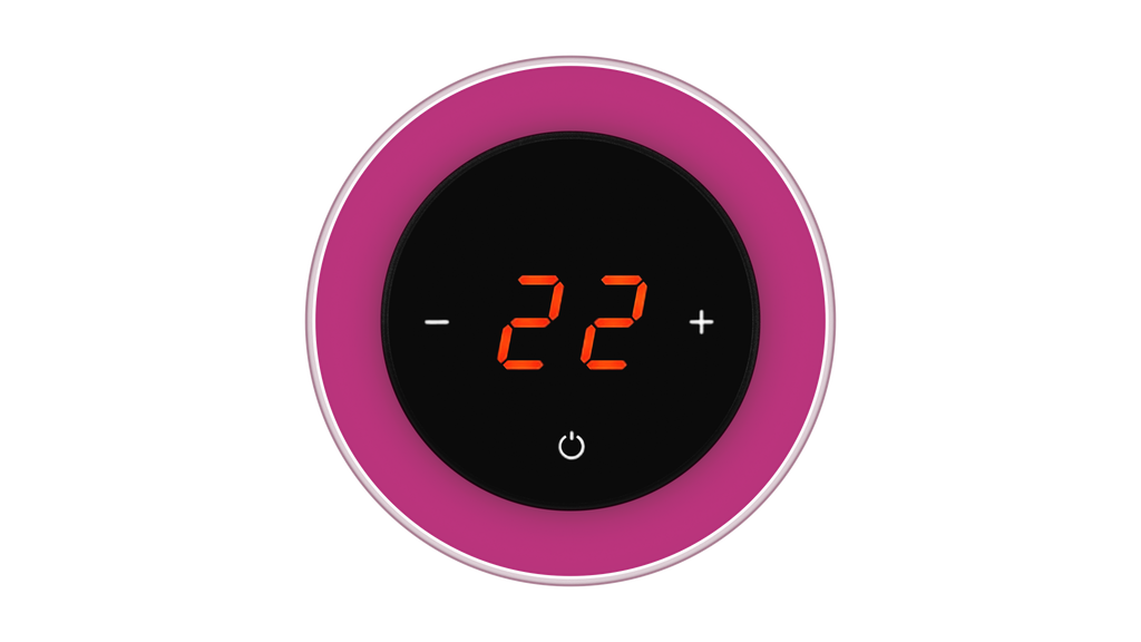 Glass Thermostat R-Type - FUCHSIA