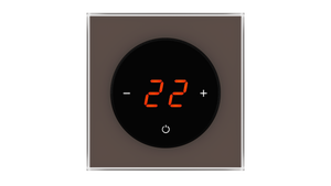 Glass Thermostat T-Type - BROWN NATURAL
