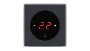 Glass Thermostat T-Type - ANTHRACITE