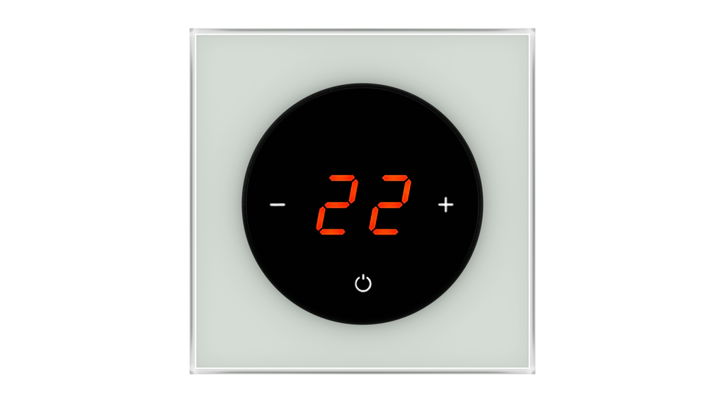 Glass Thermostat T-Type - GREY CLASSIC