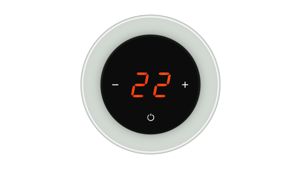 Glass Thermostat R-Type - GREY CLASSIC