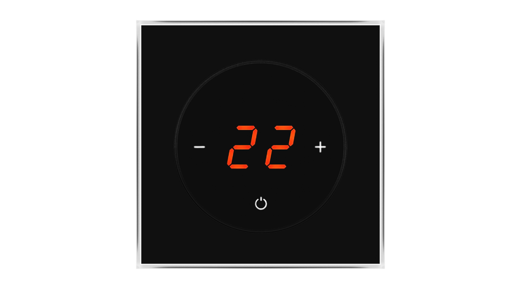 Glass Thermostat T-Type - BLACK CLASSIC