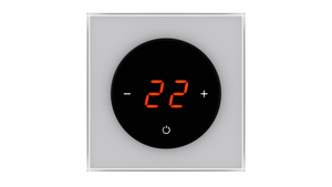 Glass Thermostat T-Type - GREY METAL
