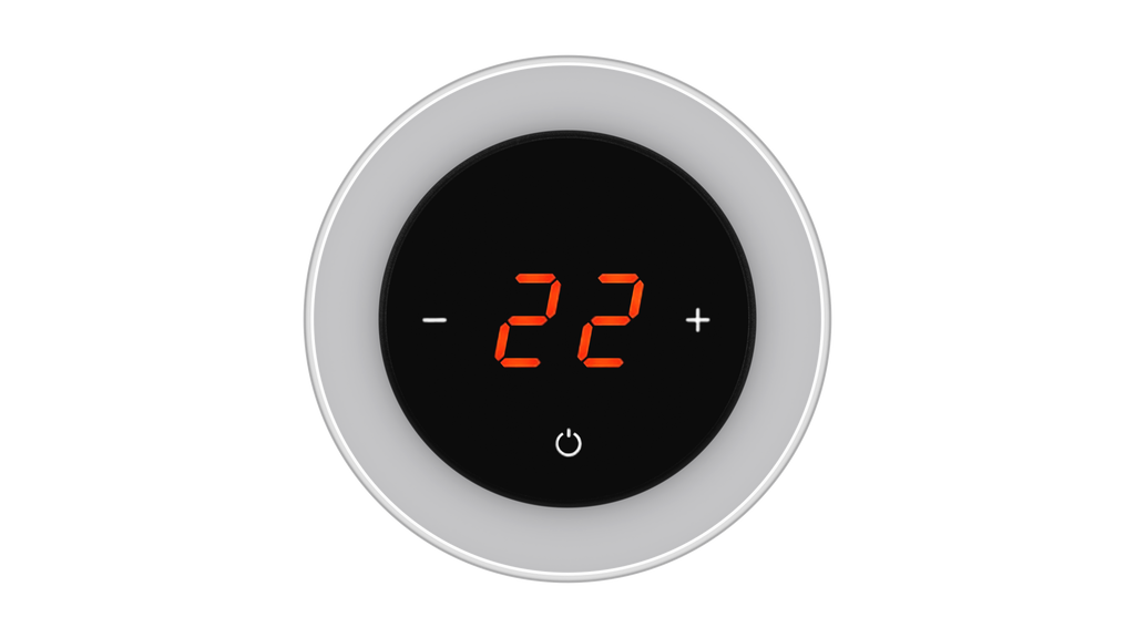 Glass Thermostat R-Type - GREY METAL