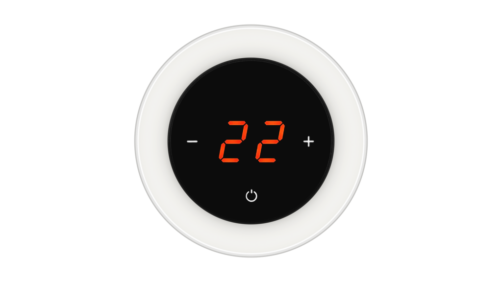 Glass Thermostat R-Type - WHITE SOFT