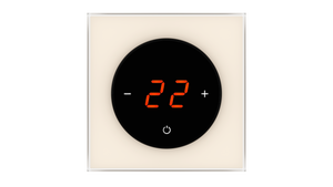 Glass Thermostat T-Type - WHITE PEARL