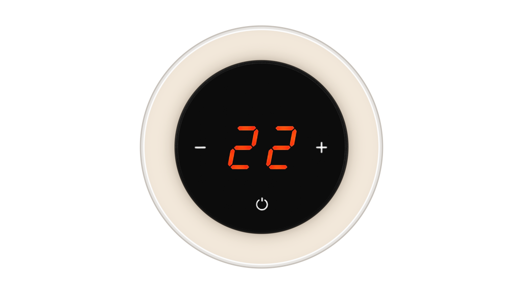 Glass Thermostat R-Type - WHITE PEARL