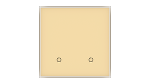 Glass Switch 2-gang BEIGE LIGHT