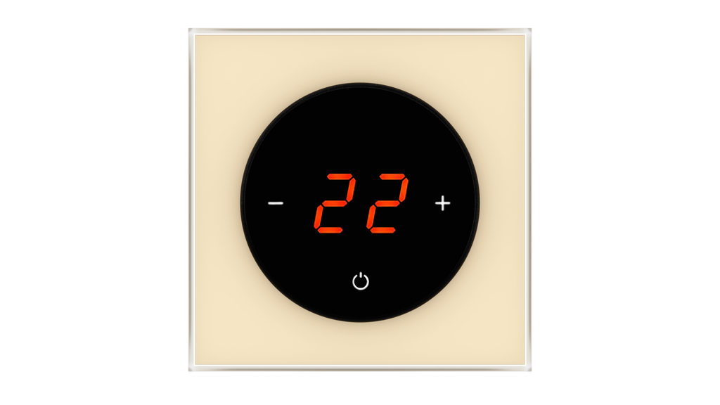 Glass Thermostat T-Type - BEIGE LIGHT