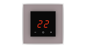 Glass Thermostat O-Type - TAUPE METAL