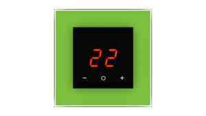 Glass Thermostat O-Type - GREEN LUMINOUS