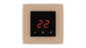 Glass Thermostat O-Type - BROWN LIGHT