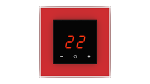 Glass Thermostat O-Type - RED LUMINOUS
