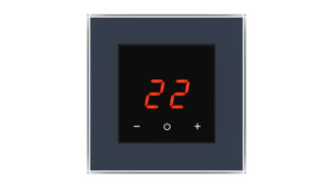Glass Thermostat O-Type - BLUE PETROL