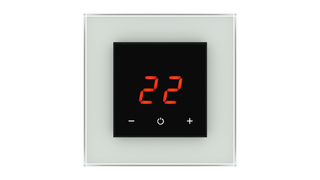 Glass Thermostat O-Type - GREY CLASSIC