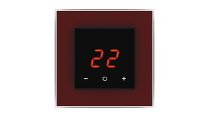 Glass Thermostat O-Type - BROWN DARK