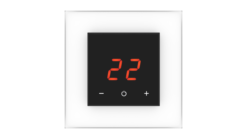 Glass Thermostat O-Type - WHITE PURE