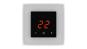 Glass Thermostat O-Type - GREY METAL