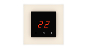 Glass Thermostat O-Type - WHITE PEARL