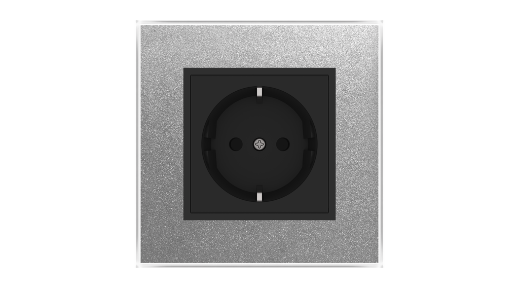 Glass Socket O-Type - ALUMINIUM RICH
