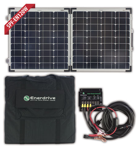ENERDRIVE 120W Folding Solar Panel Kit (BW-SPF-EN120W)