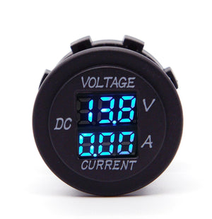 LIGHTNING Digital LED Display Volt/Amp Meter - Blue LED (LP-VAM)