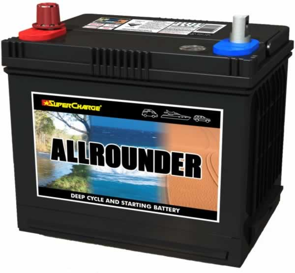SUPERCHARGE ALLROUNDER Automotive / Deep Cylcle Battery MRV48 (60AH - 525 CCA) IN-STORE PICK UP ONLY