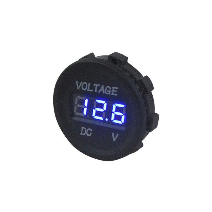 LIGHTNING Digital Display Voltmeter 12 Volt LED - Blue (LP-DDVM)