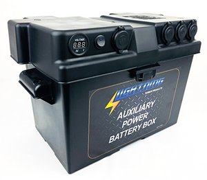 LIGHTNING Auxiliary Power Battery Box - Fits up to 120AH AGM Battery size (LP-APBB-L)