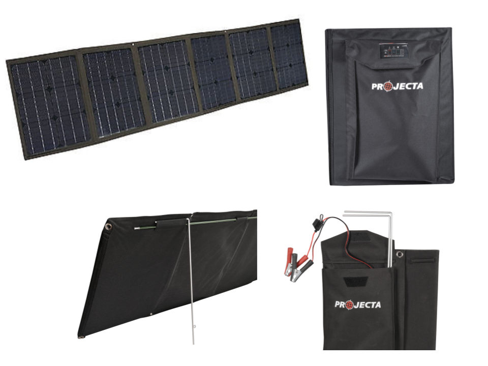PROJECTA MONOCRYSTALLINE 12V 120W SOFT FOLDING SOLAR PANEL KIT (LP-SPM120K)