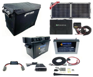 LIGHTNING Premium Fridge / Solar / Power Package - 55L Fridge + 120W Solar Kit + 120AH Power Package (LP-FPCP-P)