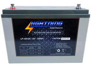 LIGHTNING 12 Volt 120Ah Deep Cycle AGM Auxiliary Battery (LP-12120)