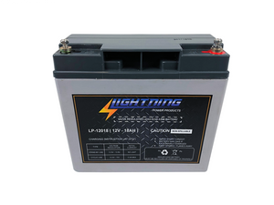 LIGHTNING 12 Volt 18Ah Deep Cycle AGM Auxiliary Battery (LP-12018)