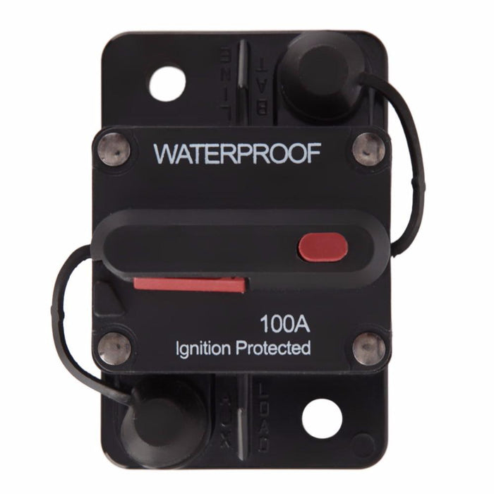 LIGHTNING 100A MANUAL RESET CIRCUIT BREAKER - Ignition Protected (LP-MCB100)
