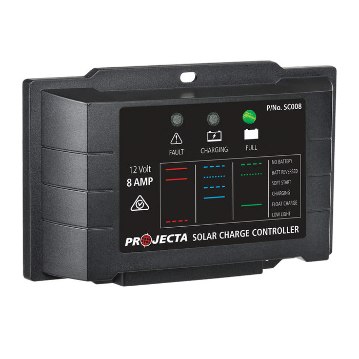 PROJECTA AUTOMATIC 12V 8A 4 STAGE SOLAR CHARGE CONTROLLER (LP-SC008)