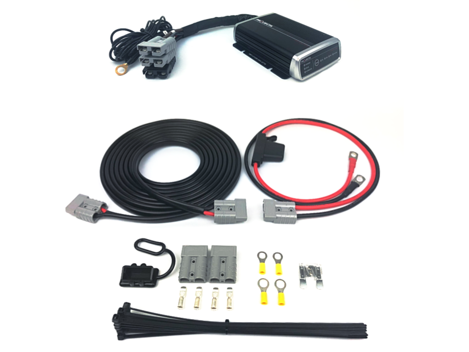 LIGHTNING Quick Connect Dual Battery Wiring Kit + 25A DCDC Charger on