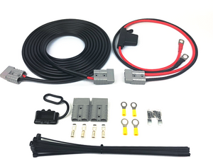 LIGHTNING Quick Connect Dual Battery Wiring Kit + 25A DCDC Charger (LP-DBWK8MMDCDC-QC)