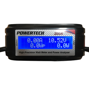 POWERTECH - 200A DC Watt Meter Power Analyser With LCD Display
